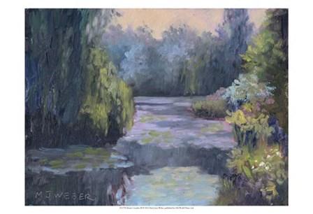 Monet's Garden III by Mary Jean Weber art print