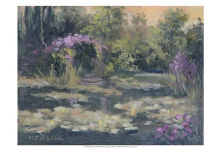 Monet's Garden IV by Mary Jean Weber art print