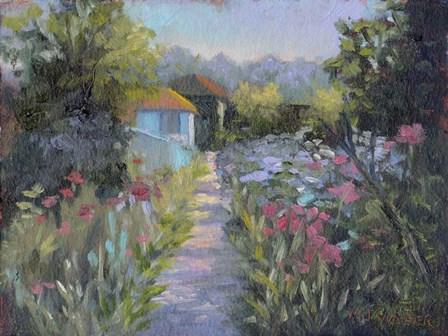 Monet's Garden V by Mary Jean Weber art print