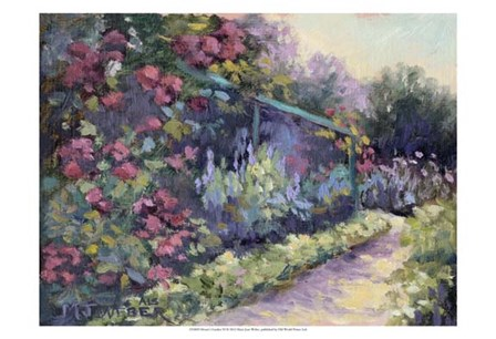 Monet's Garden VI by Mary Jean Weber art print