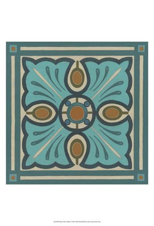 Piazza Tile in Blue I by June Erica Vess art print