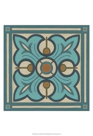 Piazza Tile in Blue II by June Erica Vess art print