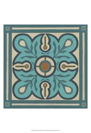 Piazza Tile in Blue III by June Erica Vess art print