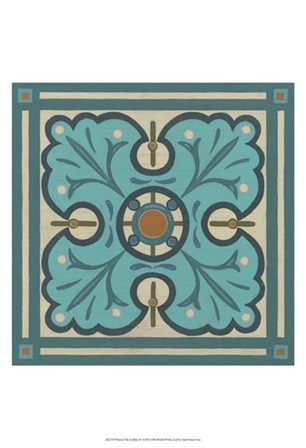Piazza Tile in Blue IV by June Erica Vess art print