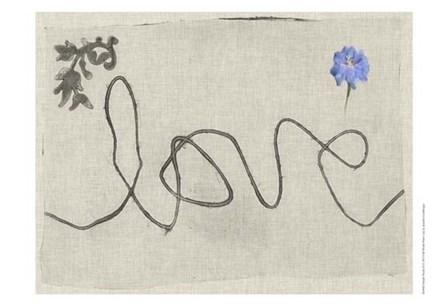 Simple Words II by Jennifer Goldberger art print