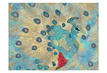 Graphic Peacock II by Catherine Kohnke art print