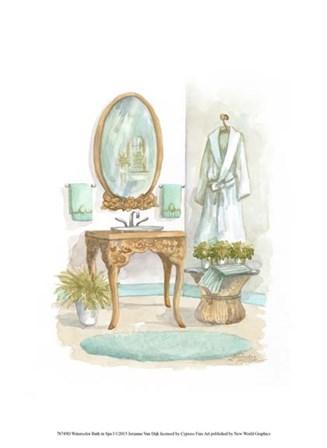 Watercolor Bath in Spa I by Jerianne Van Dijk art print