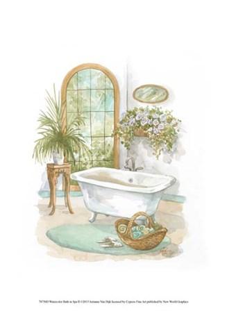 Watercolor Bath in Spa II by Jerianne Van Dijk art print