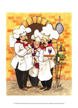 Wine Chefs by Jerianne Van Dijk art print
