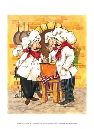 Soup Chefs by Jerianne Van Dijk art print