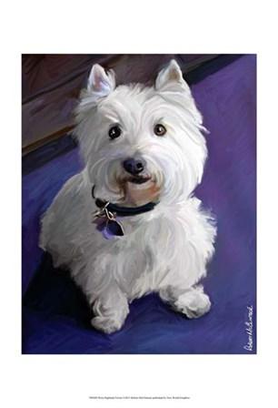 West Highland Terrier by Robert McClintock art print