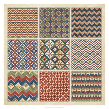 Pattern Patch I by Vision Studio art print