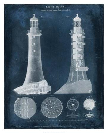 Lighthouse Blueprint by Vision Studio art print