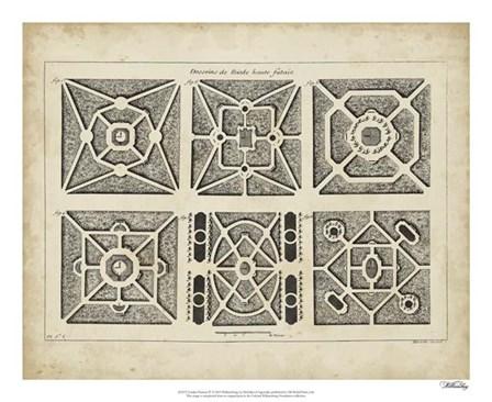 Garden Parterre IV by DeZallier D'Argenville art print