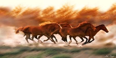 Blazing Herd II by David Drost art print