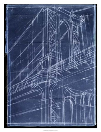 Bridge Blueprint I by Ethan Harper art print