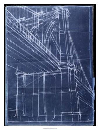 Bridge Blueprint II by Ethan Harper art print