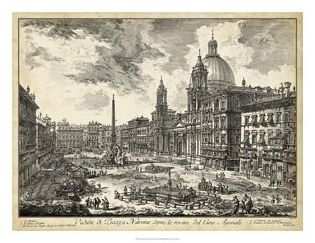 Veduta di Piazza Navona by Francesco Piranesi art print