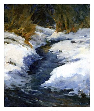 Snow on the Banks by Barbara Chenault art print