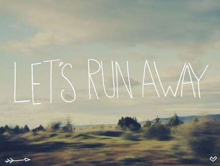 Let's Run Away by Leah Flores art print