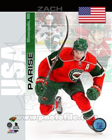 Zach Parise- USA Portrait Plus art print
