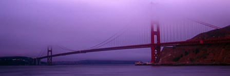 Suspension bridge across the sea, Golden Gate Bridge, San Francisco, Marin County, California, USA by Panoramic Images art print