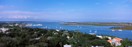 High angle view from top of lighthouse, St. Augustine, Florida, USA by Panoramic Images art print