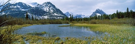 Lake with mountains in the background, US Glacier National Park, Montana, USA by Panoramic Images art print