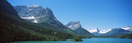 Lake in front of mountains, St. Mary Lake, US Glacier National Park, Montana by Panoramic Images art print