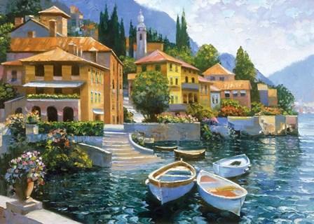Lake Como Landing by Howard Behrens art print