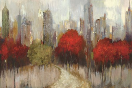Downtown Red by Allison Pearce art print