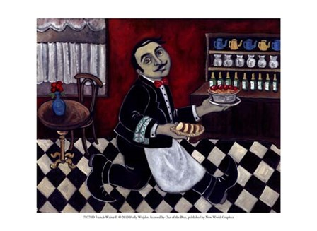 French Waiter II by Holly Wojahn art print
