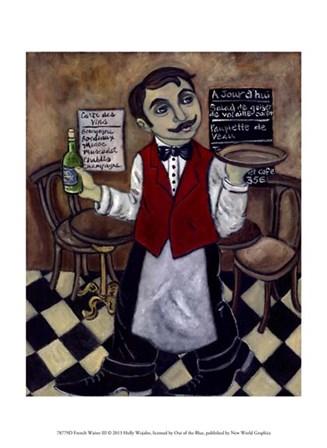 French Waiter III by Holly Wojahn art print