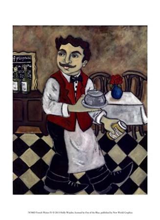 French Waiter IV by Holly Wojahn art print