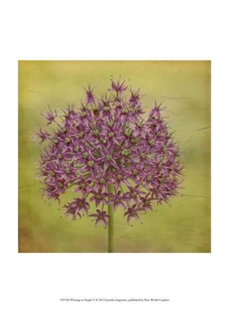 Waiting on Purple V by Jennifer Jorgensen art print