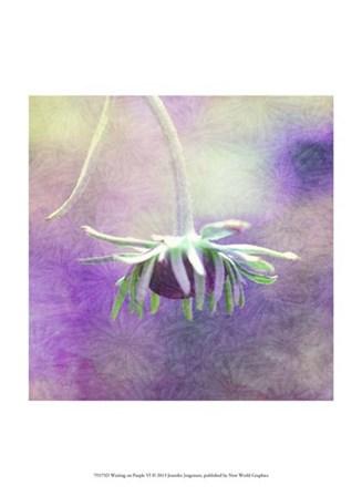 Waiting on Purple VI by Jennifer Jorgensen art print