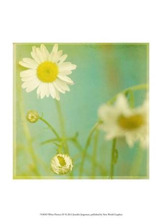 White Flowers IV by Jennifer Jorgensen art print