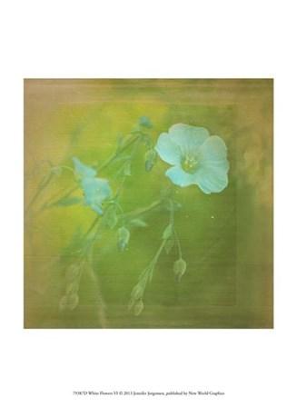 White Flowers VI by Jennifer Jorgensen art print