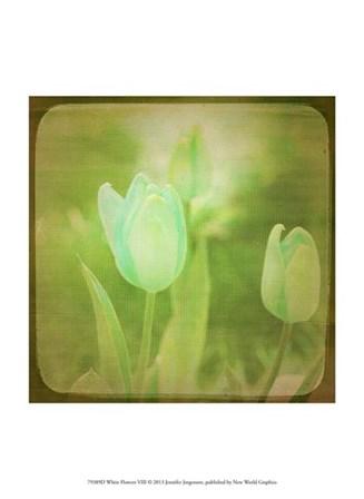 White Flowers VIII by Jennifer Jorgensen art print