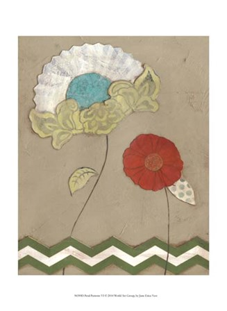 Petal Patterns VI by June Erica Vess art print