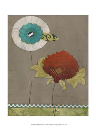 Petal Patterns VII by June Erica Vess art print