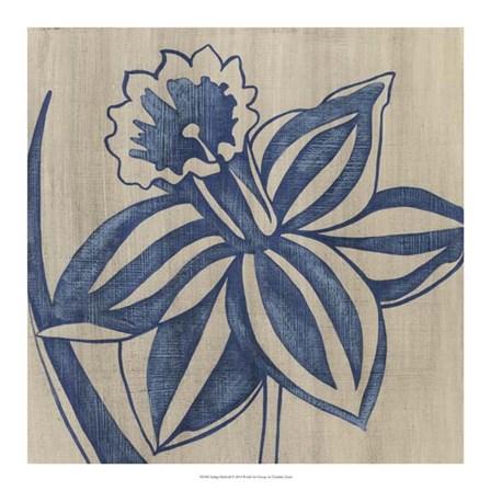 Indigo Daffodil by Chariklia Zarris art print
