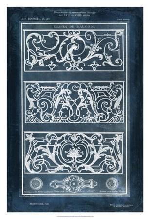 Ornamental Iron Blueprint II by Vision Studio art print