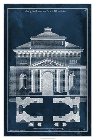 Palace Facade Blueprint II by Vision Studio art print