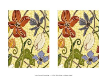 Mini Sunny Garden I (2-Up) by Karen Deans art print