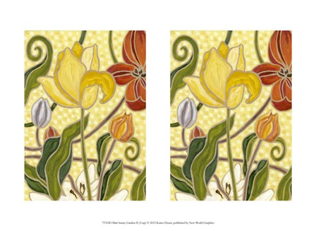 Mini Sunny Garden II (2-Up) by Karen Deans art print