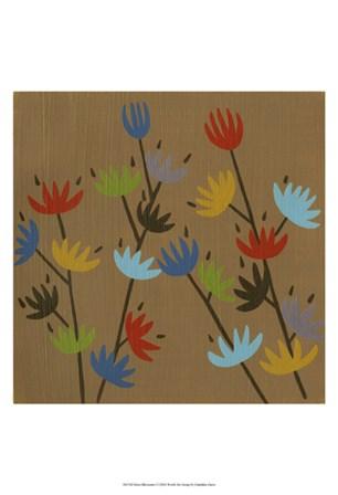 Retro Blossoms I by Chariklia Zarris art print