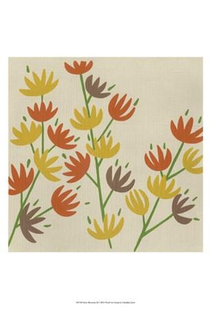 Retro Blossoms III by Chariklia Zarris art print