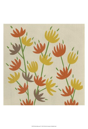 Retro Blossoms IV by Chariklia Zarris art print