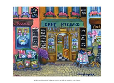 Coffees and Teas by Holly Wojahn art print